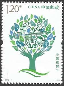2019-4 中国植树节 邮票(购四套供厂铭方连)